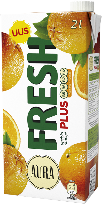Aura Fresh Plus Orange juoma 2L