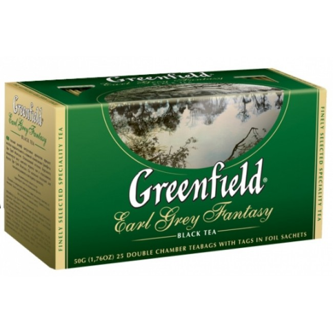 GREENFIELD Earl Grey Fantasy черный чай 25x2g