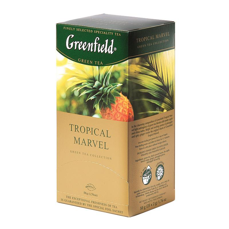 GREENFIELD Kiina vihreä tee Tropical Marvel 25x2g